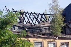Burnt roof Stock Photo