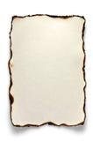 Burnt sheet of A4 Stock Photos