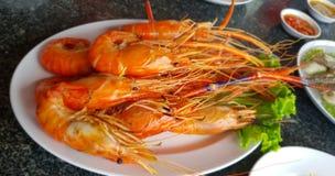Burnt shrimp royalty free stock image