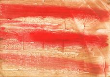 Burnt sienna abstract watercolor background Stock Photos