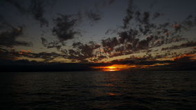 Burnt sun. Sun reflected over the Pacific Ocean Royalty Free Stock Photography