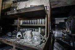 burnt szkła po dużego ogienia Obrazy Stock