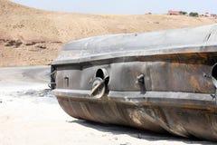 Burnt tanker Royalty Free Stock Photos