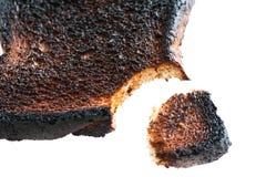 Burnt Toast With Bite Stock Photo