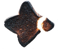 Burnt Toast With Bite Stock Photography