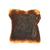 Burnt toast bread isolated Stock Image