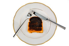 Burnt toast bread slices Royalty Free Stock Image