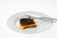 Burnt toast bread slices Stock Photo