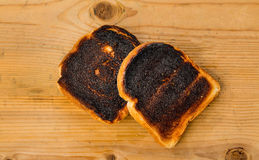 Burnt toast bread slices Royalty Free Stock Photos