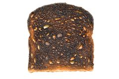 Burnt toast isoalted Stock Images