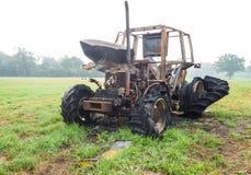 Burnt tractor Stock Photos