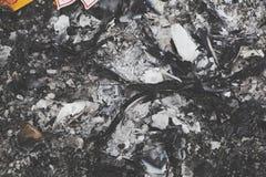 Burnt trash Stock Photography