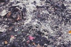 Burnt trash Stock Photo