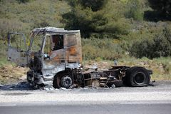 Burnt truck Royalty Free Stock Photography