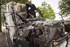 Burnt truck Stock Photo
