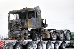 Burnt truck Stock Image