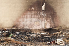 Burnt wall. Royalty Free Stock Photography