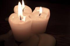 Burnt świeczki Zdjęcia Stock