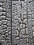 Burnt Wood from a Burnt Out Building Royalty Free Stock Image