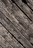 Burnt wood planks. Of wood fence Stock Photo