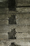 Burnt wood texture Stock Photo