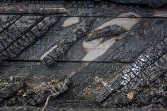 Burnt wood texture Stock Photos