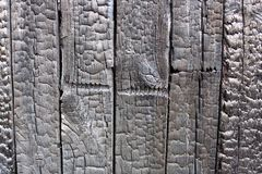 Burnt wood wall texture royalty free stock photos