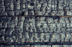 Burnt wooden boards Stock Images