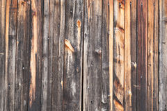 Burnt wooden boards Royalty Free Stock Photo