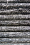 Burnt wooden house wall Royalty Free Stock Photos