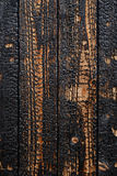 Burnt wooden planks Stock Photography