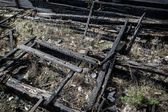 Burnt Wooden Ruin Royalty Free Stock Images