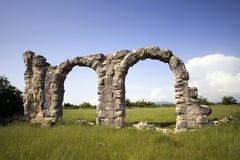 Ruins of Roman Legion camp in National park Krka, Croatia stock image