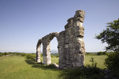 Fördärvar av romerskt legionläger i nationalparken Krka, Kroatien Arkivfoton