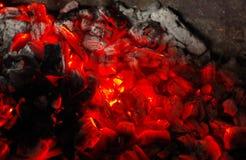 Burny węgiel Fotografia Royalty Free