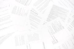 Burocrazia. Caos dei documenti Fotografie Stock Libere da Diritti