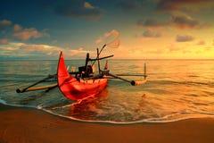 Burong Mandi Beach Arkivfoto
