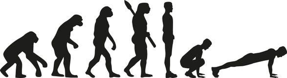Burpees ewolucja ilustracji