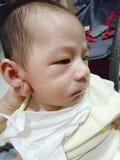 Burping baby Royalty Free Stock Photo