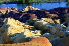 Burqin colorful beach Stock Photo