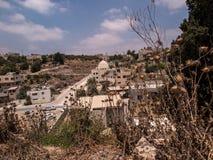 Burqin, territoires arabes en Palestine Image stock