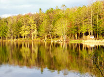 Burr Pond state park spring view. Burr Pond state park beautiful spring views in Torrington Connecticut Stock Photo