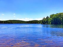 Burr Pond state park summer view royalty free stock photos