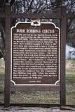 Burr Robbins Circus Historical Marker - Janesville, le Wisconsin Image libre de droits