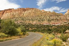 Burr Trail 10. Scenic byway running through the red sandstone cliffs along the Burr Trail in Grand Staircase-Escalante National Monument in southern Utah Stock Photography