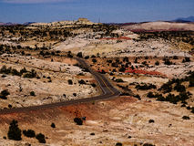 Burr Trail Capital Reef Scenic drev Royaltyfri Foto