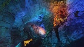 Burra grottor Arkivfoton