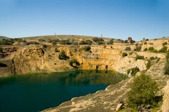 Burra Mine. The open cut mine in Burra, South Australia royalty free stock images