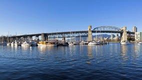 Burrard桥梁 免版税图库摄影