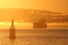 burrard πρωί Βανκούβερ κολπίσκ&omega Στοκ εικόνα με δικαίωμα ελεύθερης χρήσης